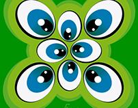 Eyes caricature