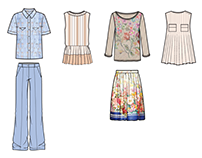 Ready-to-wear Flat/CAD Illustration