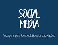 Postagens para Facebook Hospital das Nações