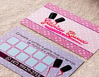 Cartão de Visita e Logo para Manicure