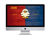 Encuentro Internacional de Teatro Landing Page Design a