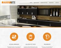 Site da Maderarte móveis sob medida