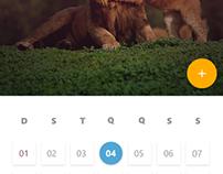 DailyUI #004 - Calendário / Calendar