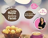 Flyer - Café com as Desginers - Fê Sobrancelharia