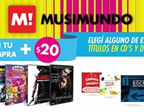Promo Cds y DVDs Musimundo TV