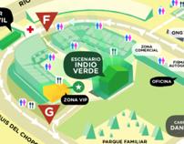 Mapa INDIO Vive Latino 2012