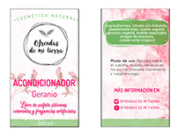 Labels for natural cosmetics