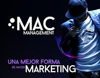 Pieza publicitaria para Mac Management