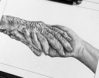 Manos. Ilustración a mano alzada.