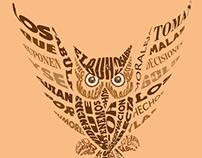 El buho sabio - Tipografía