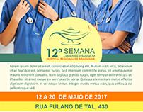 Semana de Enfermagem do HRA (Banner e Folder)