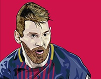 Lionel Messi Ilustración Digital