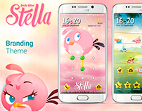 Angry Birds Stella Galaxy Theme