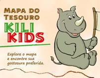 "Cardápio ""Mapa do Tesouro"" Kili Kids"