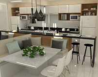 Interiores | Projeto Cozinha Paula Silvério