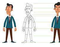 Desarrollo de personajes y Key Visual