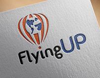 Logo para FlyingUp - Agência de Intercâmbio
