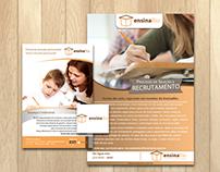 Criação de marca, flyer e cartaz (EnsinaRio)
