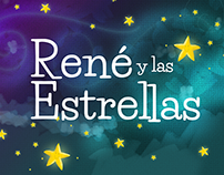 René y las estrellas, children book illustration