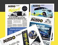 Branding y diseño editorial para suplemento Nitro