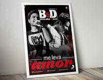 Cartaz música Me Leva Amor - Bruninho e Davi