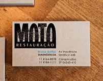 Cartão de visitas Moto Restauração
