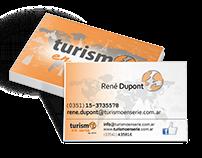 Turismo en serie - Cartel, tarj. personales y folletos