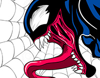 Venom - character design for Tshirt
