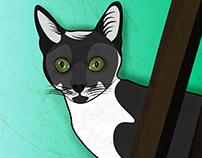 Drawing Cat - Vectorial.