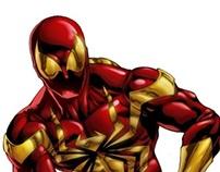 Ilustração - Homem-Aranha de Ferro (Iron Spider)