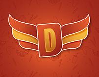 Identidad de Doner Wings comida rápida.