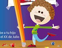 Afiche para concurso de dibujo infantil (2011)