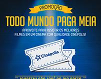 Promoção - Todo Mundo Paga Meia - Cinépolis