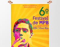 Cartaz 6º Festival de MPB