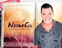 Página dupla revista - Banda Negra Cor