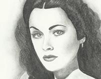 Retratos a lápiz actrices del cine clásico