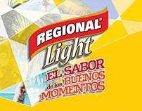 Regional Light desarrollo de Key visual y aplicación
