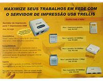 Materiais de comunicação da empresa Trellis