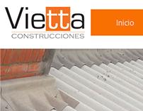 """Web Design-Diseño Web """"Vietta Construcciones"""""""