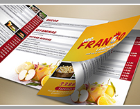 Bi-fold brochure Mr. Frango