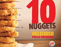 Hablador promocional Burger King