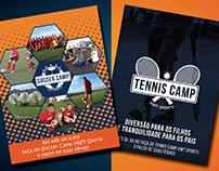 Panfleto Soccer e Tennis Camp