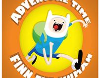 "Cartaz ""Adventure Time - Finn The Human"""