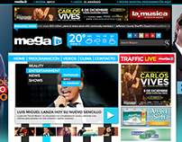 MegaTV Website Design - 2015
