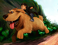 Dog, ilustracion full photoshop