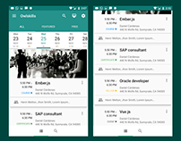 Android events feed