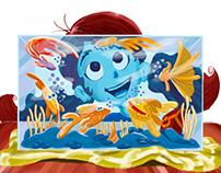 20.000 léguas submarinas pintura digital