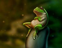 Frog, Digital Art