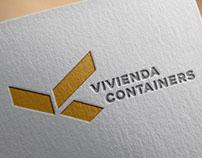 Diseño de logotipo de vivienda containers
