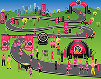 Divas Marathon Course Map 2017